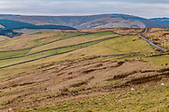 Teviothead, Hawick, Scottish Borders, Scotland, UK. 22nd March 2021. Looking south west from Limeycleuch in the upper Teviot valley onto the Dumfries and Galloway march on the skyline.
