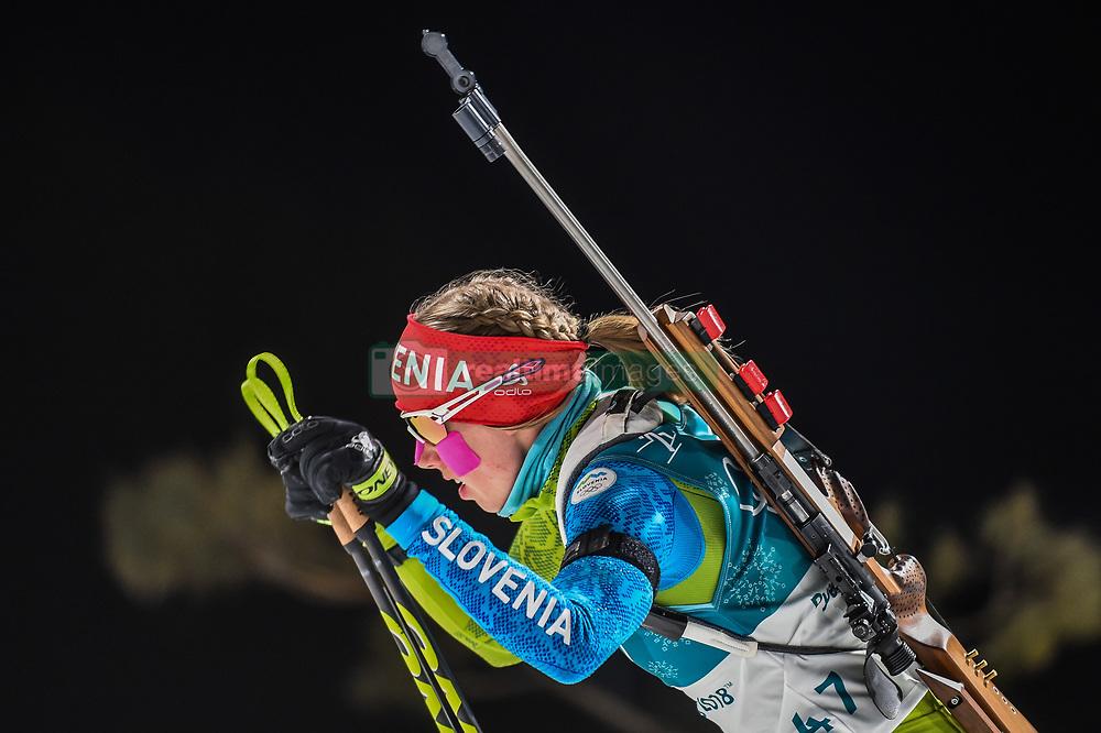 February 12, 2018 - Pyeongchang, Gangwon, South Korea - Anja Erzen ofSlovenia competing at Women's 10km Pursuit, Biathlon, at olympics at Alpensia biathlon stadium, Pyeongchang, South Korea. on February 12, 2018. Ulrik Pedersen/Nurphoto  (Credit Image: © Ulrik Pedersen/NurPhoto via ZUMA Press)