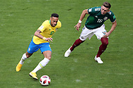 Neymar of Brazil and Hector Herrera of Mexico during the 2018 FIFA World Cup Russia, round of 16 football match between Brazil and Mexico on July 2, 2018 at Samara Arena in Samara, Russia - Photo Tarso Sarraf / FramePhoto / ProSportsImages / DPPI