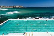 A beautiful autumn day at Bondi Icebergs, Bondi Beach, Sydney, Australia.