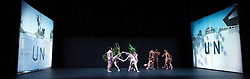 Undance<br /> World Premier of a new dance work <br /> Designed by Mark - Anthony Turnage<br /> Choreographer - Wayne Mcgregor<br /> Music composed by Mark Wallinger<br /> costume designer Moritz Junge<br /> Lighting by Lucy Carter<br /> <br /> Dancers:<br /> Catarina Carvalho<br /> Michael-John Harper<br /> Paolo Mangiola<br /> Daniela Neugebauer<br /> Anna Nowak<br /> Benjamin Ord<br /> Davide Di Pretoro<br /> <br /> Fukiko Takase<br /> <br /> Alexander Whitely <br /> <br /> Jessica Wright<br /> <br /> <br /> Photograph by Elliott Franks
