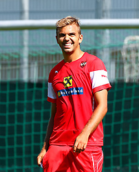 01.09.2015, Ernst Happel Stadion, Wien, AUT, UEFA Euro 2016 Qualifikation, Österreich vs Moldawien, Gruppe G, Training Österreich, im Bild Lukas Hinterseer (AUT)// during a training session of Team Austria (AUT) in front of the UEFA European Championship Qualifier Match between Austria (AUT) and Moldova (MDA) at the Ernst Happel Stadion, Vienna, Austria on 2015/09/01. EXPA Pictures © 2015, PhotoCredit: EXPA/ Sebastian Pucher