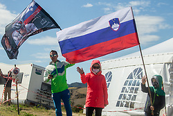 Supporters of Slovenia during Women Elite Road Race at UCI Road World Championship 2020, on September 26, 2020 in Imola, Italy. Photo by Vid Ponikvar / Sportida