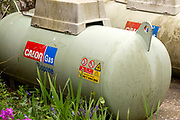 Domestic Calor Gas propane storage tank, UK