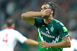 25.09.2010, Weser Stadion, Bremen, GER, 1.FBL, Werder Bremen vs Hamburger SV im Bild 3:2 Hugo Almeida ( Werder #23 ) jubel     EXPA Pictures © 2010, PhotoCredit: EXPA/ nph/  Kokenge+++++ ATTENTION - OUT OF GER +++++ / SPORTIDA PHOTO AGENCY