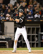 CHICAGO - APRIL 26:  Ryan Cordell #49 of the Chicago White Sox bats against the Detroit Tigers on April 26, 2019 at Guaranteed Rate Field in Chicago, Illinois.  (Photo by Ron Vesely)  Subject:   Ryan Cordell