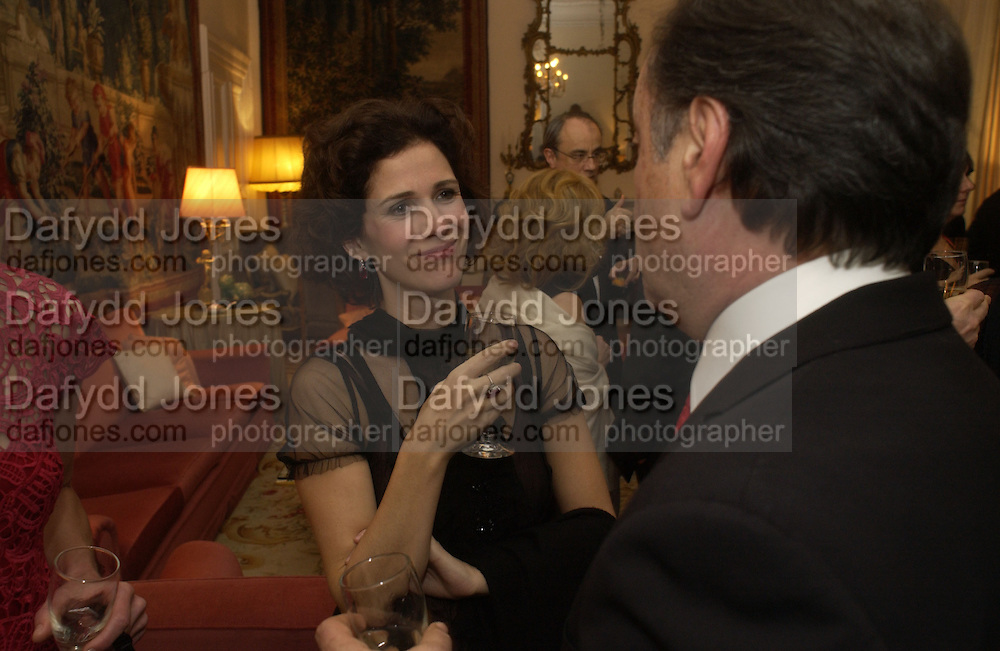 Mollie Dent-Brocklehurst, Dinner at the Italian Embassy in which the winner of the MaxMara Art Prize for Women is announced. Grosvenor Sq. London . 2 February  2006. © Copyright Photograph by Dafydd Jones 66 Stockwell Park Rd. London SW9 0DA Tel 020 7733 0108 www.dafjones.com