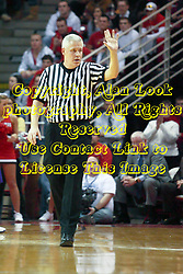 09 January 2010: Referee Tom Eades signals the official bench. The Panthers of Northern Iowa topple the Redbirds of Illinois State 59-44 on Doug Collins Court inside Redbird Arena at Normal Illinois.