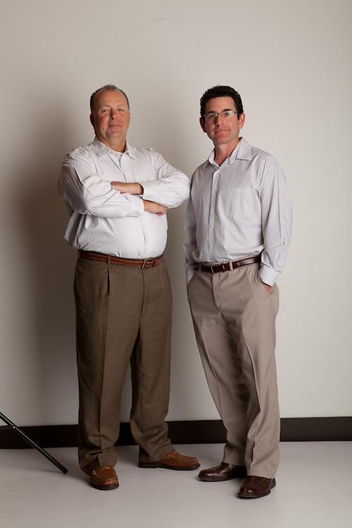 21 November 2011-Nick Radloff and Dan Burke(glasses) are photographed at minorwhite studios for B2B Magazine.