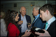 MICHAEL COCKERELL; JOHN WALSH, Fortnum and Mason and Quartet books host a celebration for the publication of  The White Umbrella by Brian Sewell. Illustrated by Sally Ann Lasson. Fortnum and Mason. Piccadilly. London. 3 March 2015.
