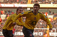 Photo: Glyn Thomas.<br />Charlton Athletic v Arsenal. The Barclays Premiership.<br />26/12/2005.<br />Arsenal's Jose Antonio Reyes (R) celebrates after giving his team a 1-0 lead.