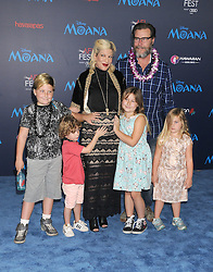 November 14, 2016 - Los Angeles, California, United States - November 14th 2016 - Los Angeles California USA -   Actress TORI SPELLING, family  at  the Disney World Premiere ''Moana''  held at the El Capitan Theater, Hollywood,  CA (Credit Image: © Paul Fenton via ZUMA Wire)