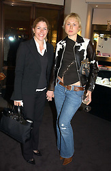Left to right, the HON.VICTORIA TRYON and ANASTASIA MATUZNY at a party to celebrate the International Women's Day in association with Theo Fennell and The Russian Connection held at Theo Fennell, 169 Fulham Road, London SW3 on 1st March 2005.<br /><br />NON EXCLUSIVE - WORLD RIGHTS