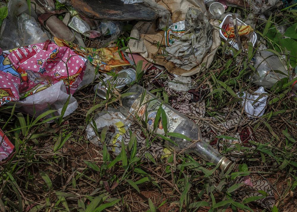 Camopi, Guyane, 2015.<br /> <br /> Décharge à ciel ouvert.