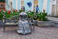 Russie, Siberie, Omsk, statue sur l avenue Lenine // Russia, Siberia, Omsk, statue on Lenin Street