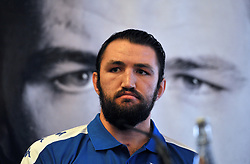 WBO world heavyweight title challenger Hughie Fury during a pre-fight press conference at the Landmark Hotel, London.