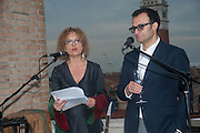 CAROLYN CHRISTOV-BAKARGIEV; VADIM GRIGORIAN, Absolut Art Bureau cocktails and dinner to celebrate the announcement of the 2013 Absolut Art Award shortlist. Bauer Hotel, San Marco. Venice. Venice Bienalle. 28 May 2013