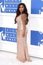 Nicole Snooki Polizzi arriving at the MTV Video Music Awards 2016, Madison Square Garden, New York City.