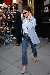 September 10, 2017 - New York, NY, USA - September 10, 2017 New York City..Victoria Beckham was seen leaving  Balthazar in New York City on September 10, 2017. (Credit Image: © Kristin Callahan/Ace Pictures via ZUMA Press)