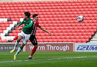 Football - 2020 / 2021 Sky Bet League One - Sunderland vs Lincoln City - Stadium of Light<br /> <br /> Callum McFadzean of Sunderland scores the opening goal to make it 1-0 to Sunderland<br /> <br /> Credit: COLORSPORT/BRUCE WHITE