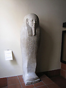 Italy, Rome, The Vatican Museum Ancient Egyptian engraved stone coffin for mummified bodies