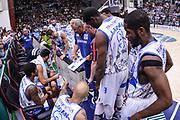 DESCRIZIONE : Campionato 2014/15 Dinamo Banco di Sardegna Sassari - Dolomiti Energia Aquila Trento Playoff Quarti di Finale Gara4<br /> GIOCATORE : Romeo Sacchetti<br /> CATEGORIA : Allenatore Coach Time Out<br /> SQUADRA : Dinamo Banco di Sardegna Sassari<br /> EVENTO : LegaBasket Serie A Beko 2014/2015 Playoff Quarti di Finale Gara4<br /> GARA : Dinamo Banco di Sardegna Sassari - Dolomiti Energia Aquila Trento Gara4<br /> DATA : 24/05/2015<br /> SPORT : Pallacanestro <br /> AUTORE : Agenzia Ciamillo-Castoria/L.Canu