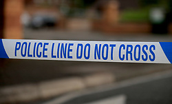 File photo dated 19/06/17 of police tape at a crime scene. Police recorded the largest annual rise in crime in a decade with nearly five million offences over the last year to March, new figures show.