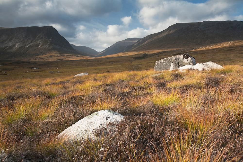 Glen Dee with Ben MacDui in the background, Scottish Highlands, Uk