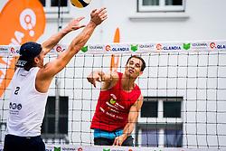 Rok Zlajpah of Mivka Mokronog during Qlandia Beach Challenge 2015 and Beach Volleyball Slovenian National Championship 2015, on July 25, 2015 in Kranj, Slovenia. Photo by Ziga Zupan / Sportida