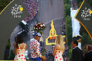 Podium, Julian Alaphilippe (FRA - QuickStep - Floors) Polka dots jersey, during the 105th Tour de France 2018, Stage 21, Houilles - Paris Champs-Elysees (115 km) on July 29th, 2018 - Photo Kei Tsuji / BettiniPhoto / ProSportsImages / DPPI