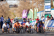 Alexander Zanardi takes the silver medal in the Men's H5 category of the Road Race on Day 3 of the 2017 UCI Para-cycling Road World Championships held at Alexandra Park Pietermaritzburg, South Africa, on Saturday 2 September 2017. Image by Greg Beadle