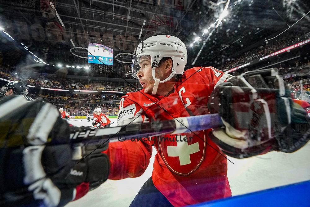 19.05.2018; Kopenhagen; EISHOCKEY WM2018 - Canada - Switzerland; <br /> Raphael Diaz (SUI) <br /> (Andy Mueller/freshfocus)