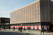 The Young Vic Theatre on The Cut in Waterloo, London, UK. Young Vic Company was formed in 1946 by director George Devine as an offshoot of the Old Vic Theatre School for the purpose of performing classic plays for audiences aged nine to fifteen.