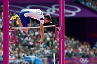 LONDON OLYMPIC GAMES 2012 - OLYMPIC STADIUM , LONDON (ENG) - 08/08/2012 - PHOTO : VINCENT CURUTCHET / KMSP / DPPI<br /> ATHLETICS - MEN POLE VAULT - RENAUD LAVILLENIE (FRA)