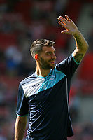 Football - 2016 / 2017 Premier League - Southampton vs. Swansea City<br /> <br /> Borja Gonzalez of Swansea City waves to the Swansea fans as he warms up before kick off at St Mary's Stadium Southampton <br /> <br /> Colorsport/Shaun Boggust