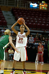 13 November 2005: Tiffany Hudson works the point.  With a final score was 93-58, the Illinois State University Redbirds overcome the Bearcats of Northwest Missouri State in an exhibition match up Sunday afternoon at Redbird Arena in Normal Illinois.  The final score was 93-58.