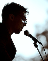 Justin Townes Earle performing at the 2011 Southern Shore Music Festival in Millville, NJ.
