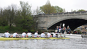 London, United Kingdom.  Cambridge cox, Ian MIDDLETON explaining his reason for the appeal to the umpire Richard PHELPS after the finish of the 2014 Varsity Boat Race between Oxford University and Cambridge University Boat Clubs over the  Putney to Mortlake  Championship Course,  River Thames;   18:19:27 - Sunday  - 06/04/2014  [Mandatory Credit; Peter SPURRIER/Intersport Images].<br /> <br /> OUBC. Bow. Storm URU, 2. Tom WATSON, 3. Karl HUDSPITH, 4. Thomas SWARTZ, 5. Malcolm HOWARD, 6. Mike DI SANTO, 7. Sam O'CONNOR, Stroke. Constantine LOULOUDIS and Cox Laurence HARVEY.<br /> <br /> CUBC. Bow. Mike THORP, 2. Luke JUCKETT, 3. Ivo DAWKINS, 4. Steve DUDEK, 5. Helge GRUETJEN, 6. Matthew JACKSON, 7. Joshua HOOPER, Stroke, Henry HOFFSTOT and cox Ian MIDDLETON