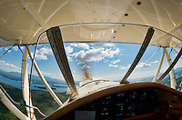 Taking flight in a WACO biplane with pilot Phil DiVirgilio of Lakes Biplane over Lake Winnipesaukee.
