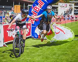 08.09.2018, Lienz, AUT, 31. Red Bull Dolomitenmann 2018, im Bild Thomas Aichner (AUT, Skinfit Osttirol/Skinfit International), Hannes Fankhauser (AUT, Skinfit Osttirol/Skinfit International) // Thomas Aichner (AUT, Skinfit Osttirol/Skinfit International), Hannes Fankhauser (AUT, Skinfit Osttirol/Skinfit International) during the 31th Red Bull Dolomitenmann. Lienz, Austria on 2018/09/08, EXPA Pictures © 2018, PhotoCredit: EXPA/ Stefanie Oberhauser