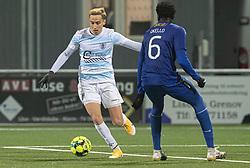 Lucas Haren (FC Helsingør) under kampen i 1. Division mellem HB Køge og FC Helsingør den 4. december 2020 på Capelli Sport Stadion i Køge (Foto: Claus Birch).