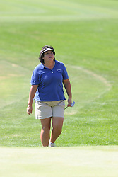 04 Sep 2005<br /> <br /> Pat Hurst approaches #18.<br /> <br /> LPGA State Farm Classic.  The Rail Golf Course, Springfield (Sherman) Illinois
