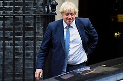 © Licensed to London News Pictures. 26/09/2019. LONDON, UK.  London, UK.  26 September 2019.  Boris Johnson, Prime Minister, departs from Number 10 Downing Street to head to Parliament.  Photo credit: Stephen Chung/LNP