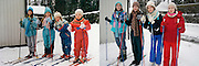 In the bath tub and on the ski slope: Photographer recreates a host of childhood holiday snaps 20 years on with her sisters<br /> <br /> A Finnish photographer set out to recreate childhood holiday pictures taken by her father 20 years ago with amusing and touching results.<br /> Wilma Hurskainen rounded up her three younger sisters and set off for the destinations they visited with their parents - and this time she directed the shots herself.<br /> The four siblings did their best to mimic the original images, which were taken between 1986 and 1990. They struck the same poses and imitated their facial expressions, acknowledging the difficulty encountered in family photos when everyone needs to look at the camera at the same time.<br /> They even tried to pay homage to their '80s fashions by wearing the same colours and styles of outfit - sporting matching tops or hoodies in different colours.<br /> In the series, titled 'Growth', Hurskainen snapped the scenes as closely as she could to her dad's efforts, to give a glimpse of how much the sisters have physically grown over the past 20 years.<br /> The matching sailor dresses might now be a thing of the past, but the siblings effortlessly slip into their younger roles - and now they are even taller than their mother.<br /> <br /> In one particularly poignant shot, the grown-up sisters pose on a sofa but cannot fully recreate the shot as their grandfather has since died.<br /> Hurskainen wrote on her website that she would love to get her sisters together again for a new set of the photos as they get older.<br /> The photographer told the My Modern Metropolis website: 'The most important thing is that in the end my sisters were pleased with the whole thing.<br /> 'It was sometimes a little hard finding the places of the original photos, finding the proper clothing and dealing with the emotions that emerged because of the process of digging up the past.'<br /> Photo shows:The background has changed a bit but these grow