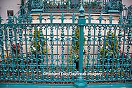 66512-00111 Iron fence and decorations on John Rutledge House Inn Bed & Breakfast, Charleston, SC