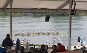 Lucerne, SWITZERLAND.<br /> <br /> GBR M8+. moves past the grandstand after the final.  2016 FISA WCII. Lake Rotsee<br /> <br /> Sunday  29/05/2016<br /> <br /> [Mandatory Credit; Peter SPURRIER/Intersport-images]
