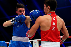17-11-2019 NED: World Port Boxing Netherlands - Kazakhstan, Rotterdam<br /> 3rd World Port Boxing in Excelsior Stadion Rotterdam / Sammy Wagensveld (NED) in action against Talgat Shaiken (KAZ), 69 kg class
