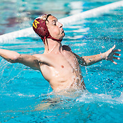 Goalie of the Saddleback college water polo team in water polo match at Saddleback College in Mission Viejo, Calif., on Friday November 4, 2016. (© Ella DeGea / Sports Shooter Academy 2016)