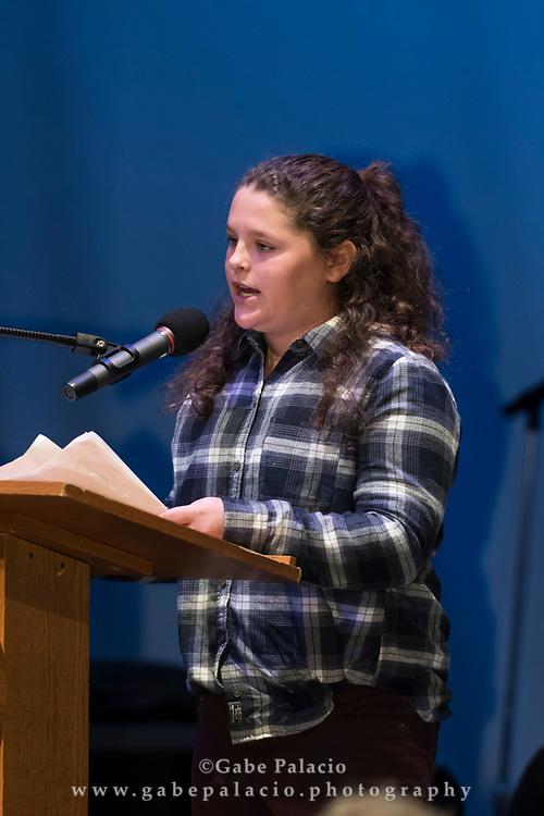 The annual speech contest at the Harvey School on December 14, 2017. (photo by Gabe Palacio)