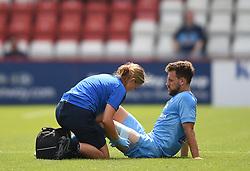 Coventry City's Toni Andreu receives treatment